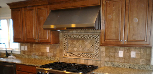 Backsplash Tumbled Limestone Mediterranean Boston