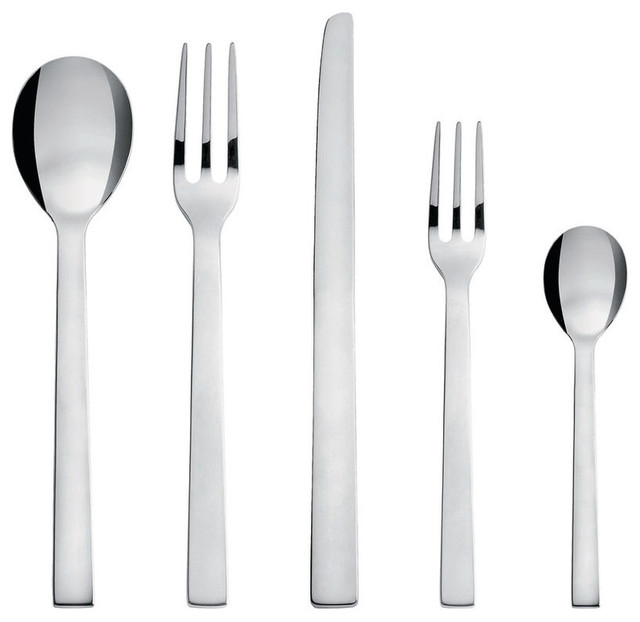 Santiago Cutlery Contemporary Flatware And Silverware Sets By Alessi