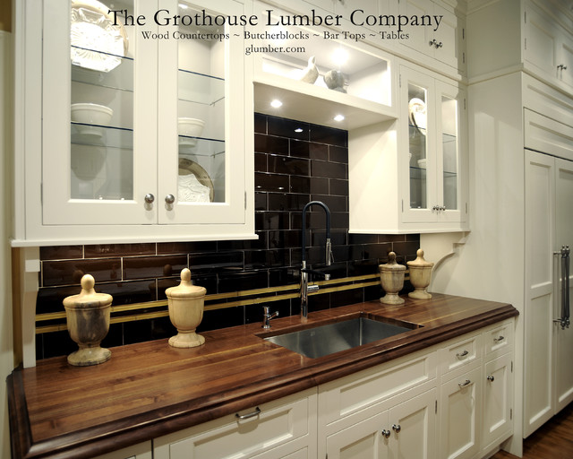 Grothouse Walnut Solid Wood Custom Countertop