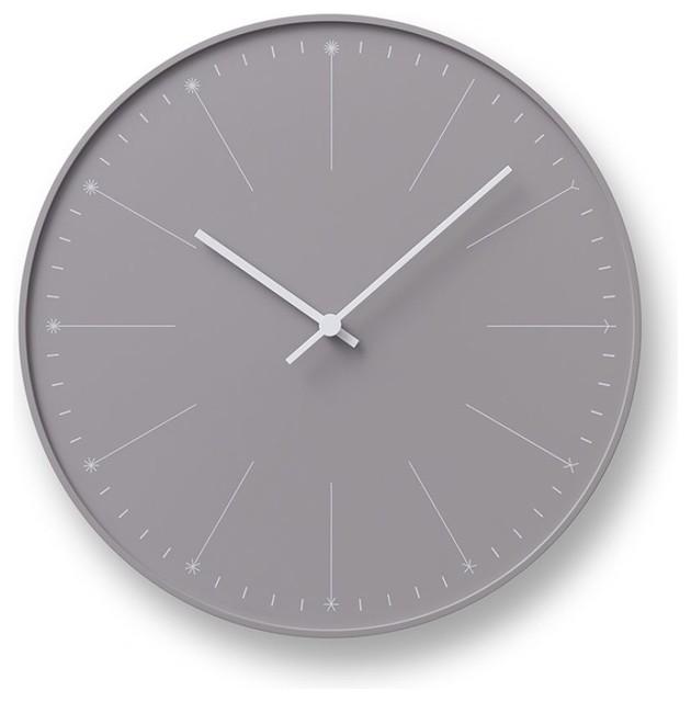 Dandelion Clock Beige Contemporary Wall Clocks