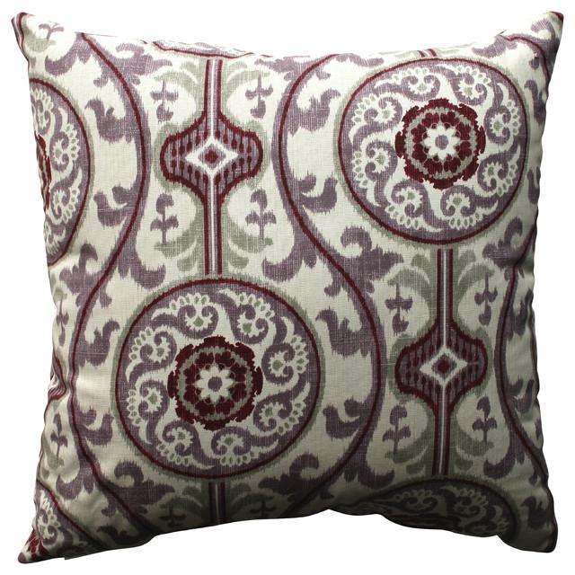 Throw Pillows Printing : Suzani Damask Plum 18