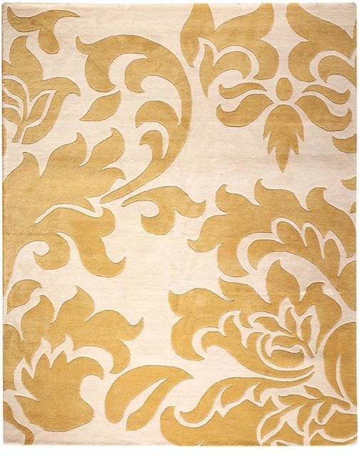 Martha stewart living grand damask area rug traditional rugs for Martha stewart rugs home decorators