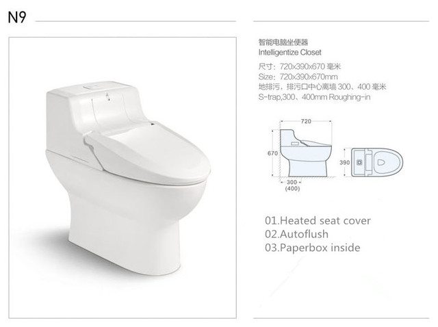 Casa S Electronic Smart Toilet With Bidet Massage Spray