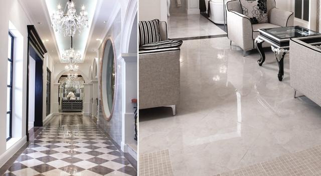 Eleganza Tiles Perlato Polished Porcelain Tile Modern