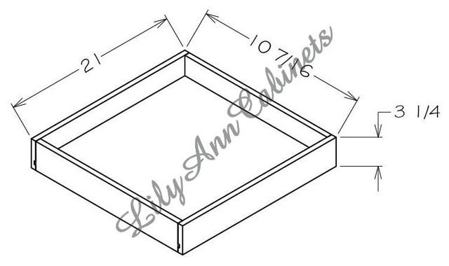RTA Hickory Walnut Base Cabinets RD18 - Rollout Shelf - Modern - Kitchen Drawer Organizers ...