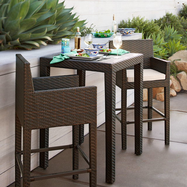Ciudad Counter Table Contemporary Patio Furniture And