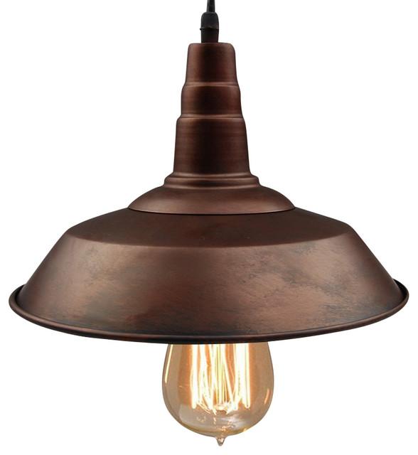 Warehouse Metal Pendant Light Bronze