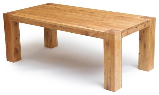 Tisch Rustikal Eiche : Tisch George Eiche Massivholz Geölt 110x260 cm - Rustikal - Esstische ...