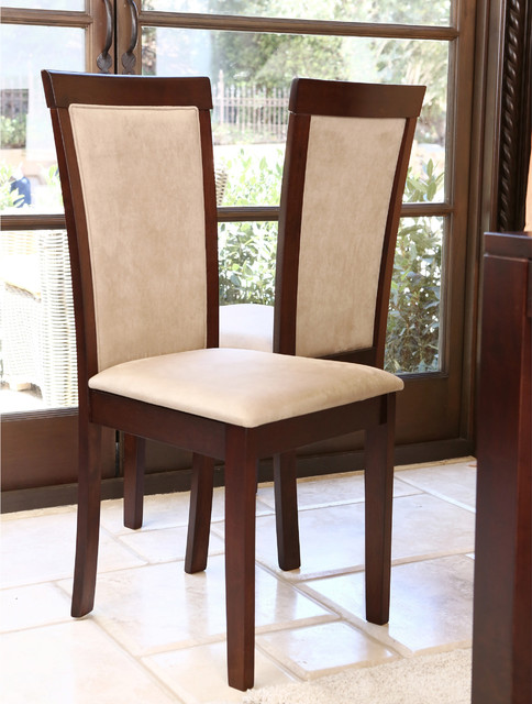 Abbyson Living Montego Light Brown Fabric Dining Chair Set Of 2 Contempor