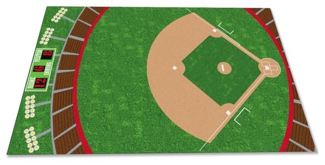 Baseball Stadium Rug Contemporary Kids Rugs By Kidcarpet