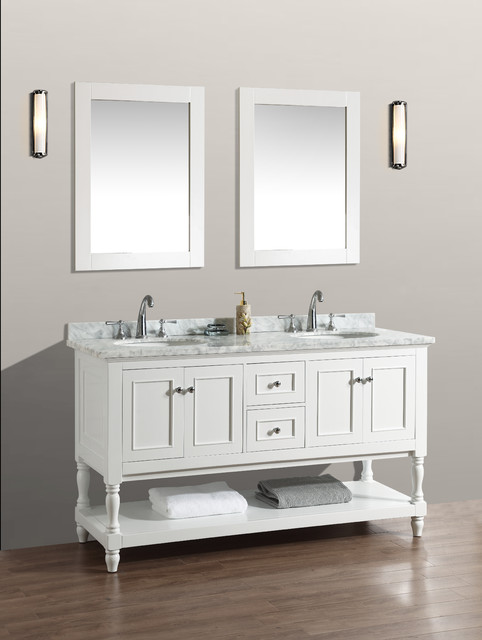 60 Cape Cod Bathroom Vanity White Traditional Bathroom Vanities And Sink Consoles