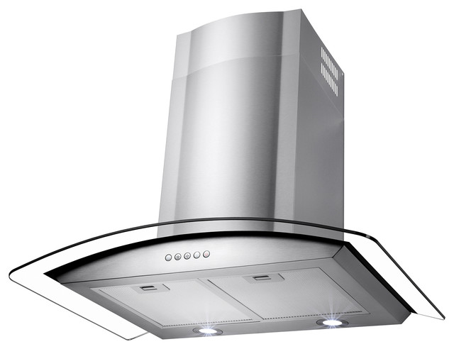 Hood Exhaust Pipe : Akdy euro stainless steel wall mount range hood quot duct
