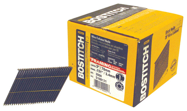 """Bostitch Stanley 3"""" Smooth Shank 28"""" Wire CollatedStick Framing Nail - Traditional - Nails ..."""