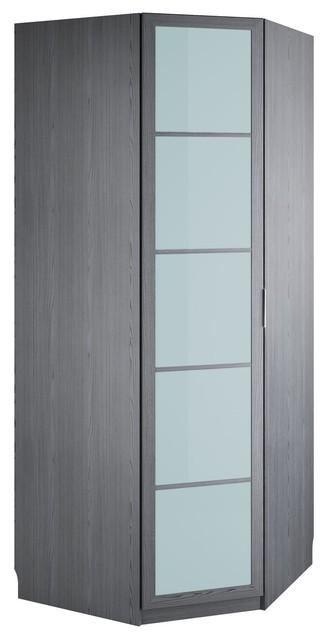 altea dressing angle 1 porte battante effet givr l96xh235xp96cm contemporain armoire et. Black Bedroom Furniture Sets. Home Design Ideas