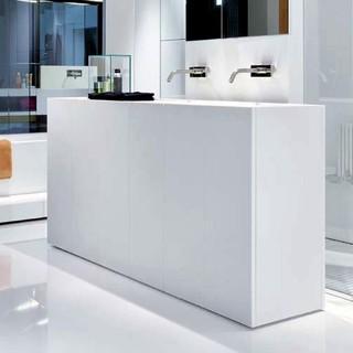 Makro Modulo30 Corian Vanity With Floor Drain Modern Bathroom Vanities And Sink Consoles