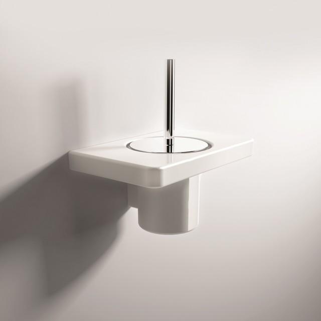 Parisi Flat Toilet Brush Holder Contemporary Toilet