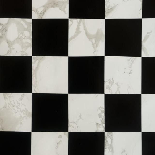 Black white self adhesive wallpaper home decor roll for White adhesive wallpaper