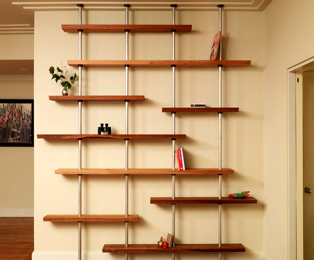Floating shelves for Contemporary display shelves