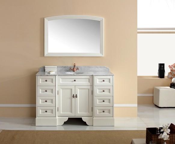 Traditional vanities pavia freestanding single basin white vanity traditional bathroom for White bathroom cabinets freestanding