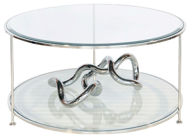 Worlds away iron round coffee table with beveled glass top for Round glass silver coffee table