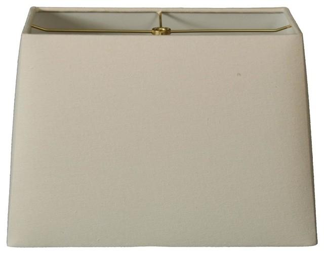 rectangle hard back lamp shade linen eggshell modern. Black Bedroom Furniture Sets. Home Design Ideas