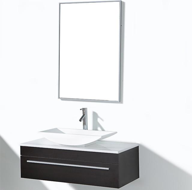 Cape Coral 35 Inch Single Sink Bathroom Vanity Set Contemporary Bathroom Vanities And Sink