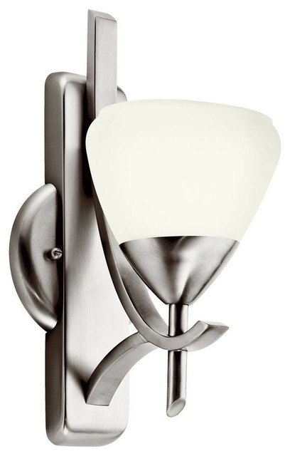 Antique Pewter Wall Sconces : Kichler Olympia Wall Sconce in Antique Pewter - Transitional - Wall Sconces - by Hansen Wholesale