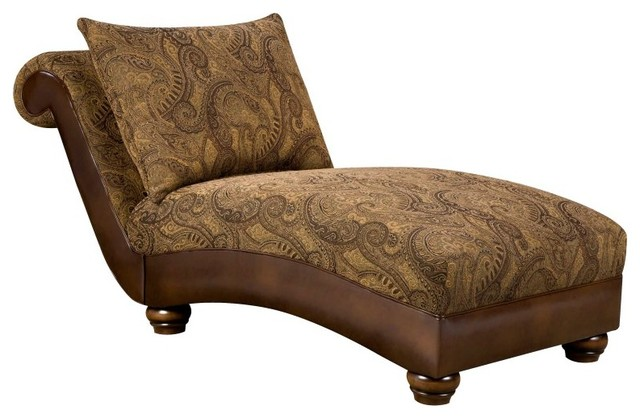 K b furniture chaise lounge tobacco 8104v ch - Designer chaise lounge chairs ...