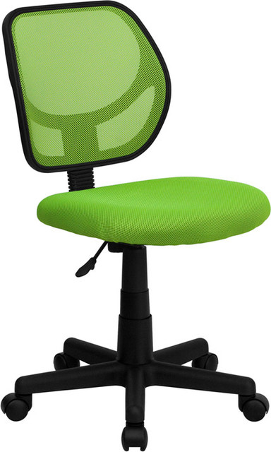 Mid Back Green Mesh Task Chair And Computer Chair