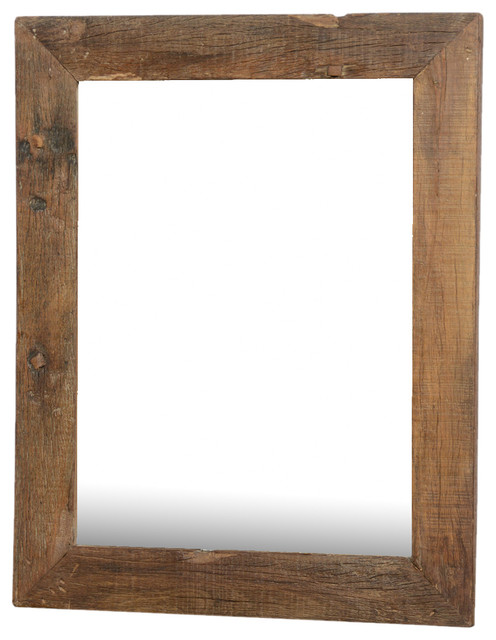 Appalachian rustic large reclaimed wood wall mirror w for Large wall mirror wood frame