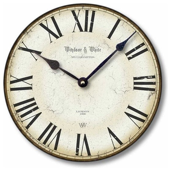 Item C8114 Vintage Style Roman Numeral Clock Traditional