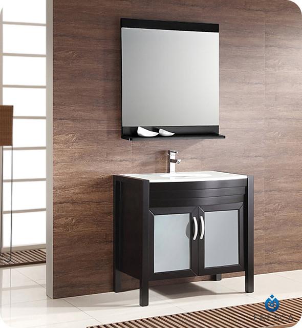 Fresca infinito 36 39 espresso modern bathroom vanity with for Decorplanet bathroom vanities