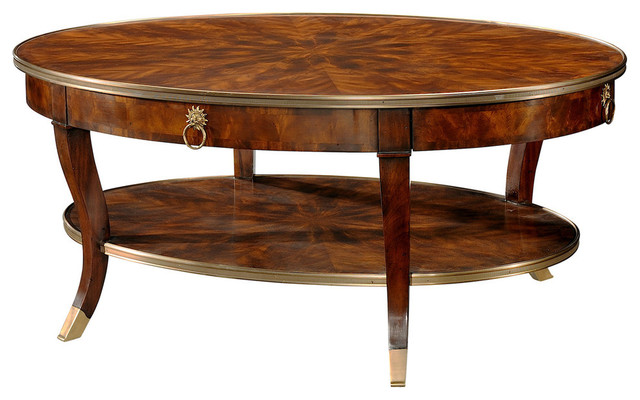 Theodore Alexander Essential Ta Around In Circles Cocktail Table Traditional Coffee Tables