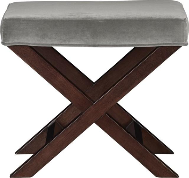 x base bench vanity stool como nickel modern vanity