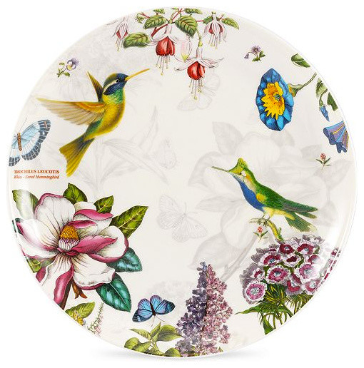 Portmeirion dinnerware botanic hummingbird accent plate for Portmeirion dinnerware set of 4 botanic garden canape plates