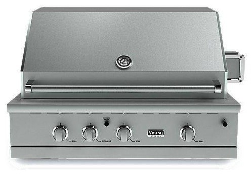 Viking vgbq54203re 42 built in gas grill outdoor grills for Viking built in grill