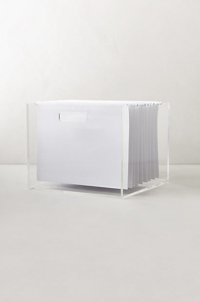 Lucite Desk Accessory, File Box - Contemporary - Filing Cabinets - by Anthropologie