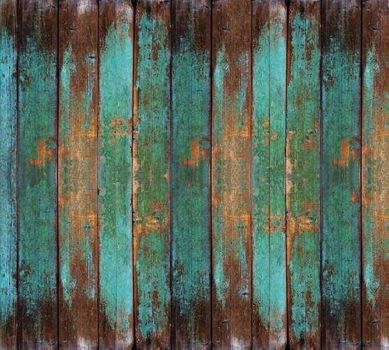 Turquoise Wood Mural Wallpaper M9211 Sample