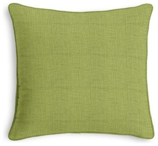 Light Green Slubby Linen Custom Throw Pillow - Contemporary - Scatter Cushions - by Loom Decor