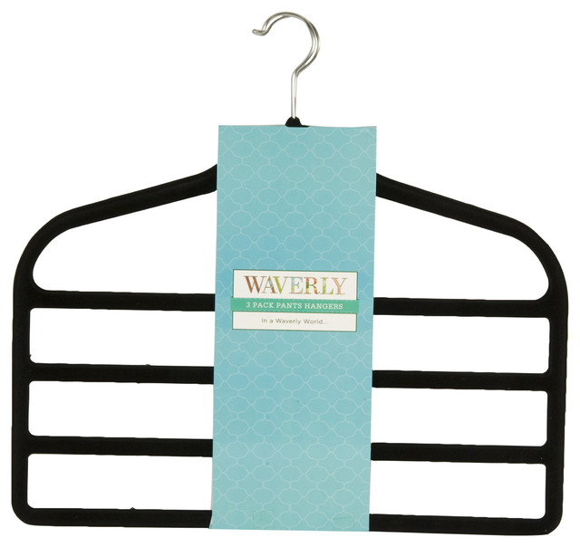 Waverly Non-Slip Space Saving Pants Hangers Clothes ...