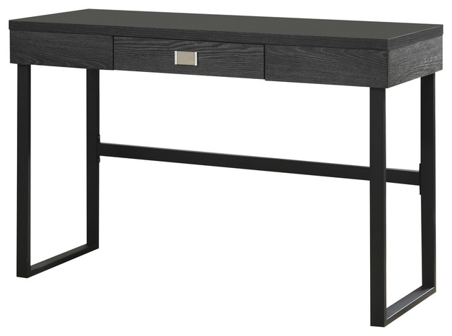 Northfield Desk With Drawer Gray Wood Grain Contemporary Desks And