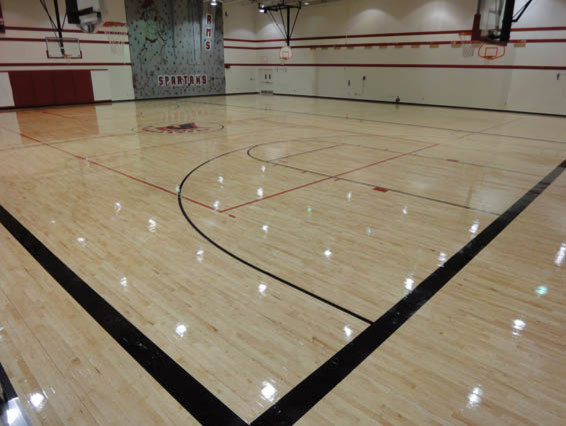 Wood Gym Floors Kansas City By Svb Wood Floors