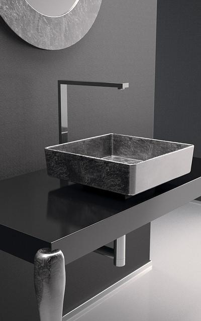 Modern Bathroom Basins : Square Silver Wash Basin - Modern - Bathroom Basins - by maestrobath