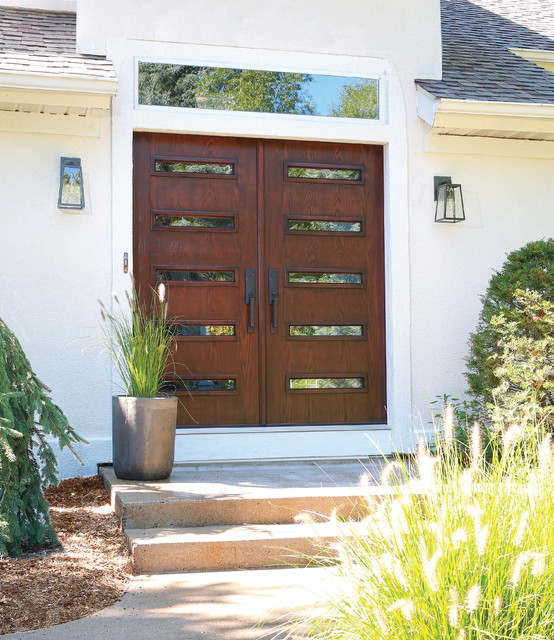 Mid century modern double doors contemporary front - Mid century modern doors ...