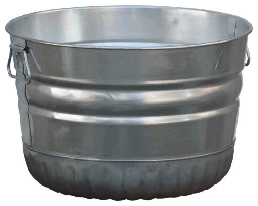 1 bushel galvanized tub rustic by bucket outlet for Rustic galvanized buckets