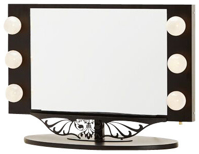 starlet lighted vanity mirror black contemporary makeup mirrors by van. Black Bedroom Furniture Sets. Home Design Ideas