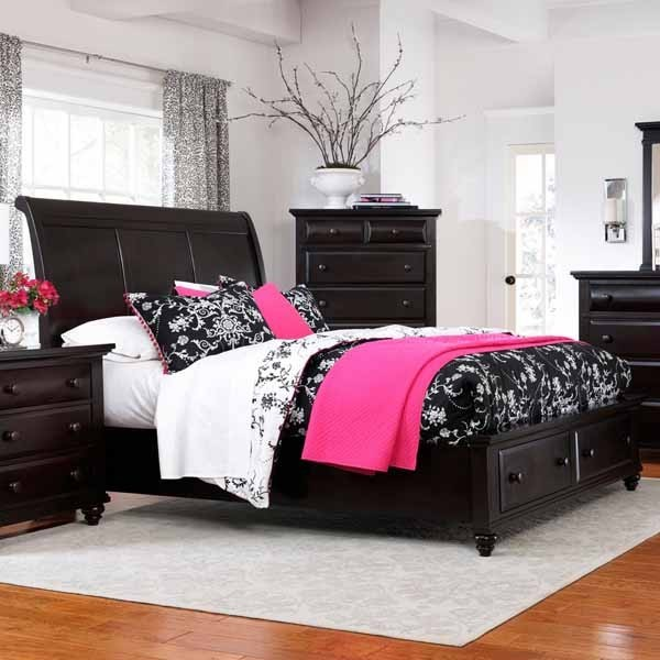 Black Bedroom Sets King Bedroom Colors Meaning Elle Decor Bedroom Ideas Jcpenney Bedroom Curtains: Farnsworth Eastern King Sleigh Bed In