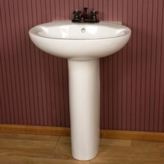 Sylvie Pedestal Sink - Contemporary - Bathroom Sinks