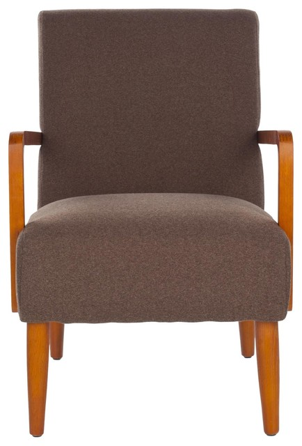 Wiley Arm Chair Brown Midcentury Armchairs Accent