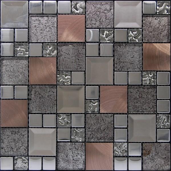 Malla kaos silver 30x30 cl sico renovado baldosas y for Baldosas de pared exterior